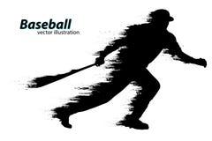 Silhueta de um jogador de beisebol Ilustração do vetor Foto de Stock Royalty Free