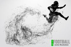 Silhueta de um jogador de futebol Ilustração do vetor Imagens de Stock Royalty Free