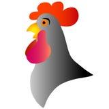 Silhueta de um pássaro - galo Símbolo do ano novo 2017 Imagem de Stock Royalty Free