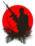 Silhueta de um soldado ilustração do vetor