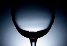 Silhueta de um vidro de vinho vazio Foto de Stock Royalty Free