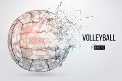 Silhueta de uma bola do voleibol Ilustração do vetor Fotos de Stock