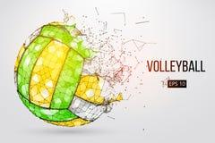 Silhueta de uma bola do voleibol Ilustração do vetor Fotos de Stock Royalty Free