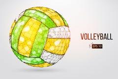 Silhueta de uma bola do voleibol Ilustração do vetor Imagem de Stock
