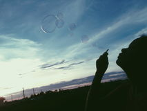 Silhueta de uma bolha Imagem de Stock