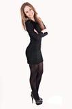 Silhueta de uma mulher bonita Foto de Stock Royalty Free