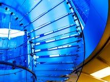 Silhueta de vidro moderna da escadaria em shanghai China Foto de Stock