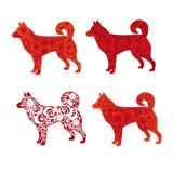 Silhueta decorativa de um cão Fotografia de Stock Royalty Free