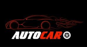 Silhueta dinâmica do carro, assuntos automotivos do logotipo ilustração do vetor