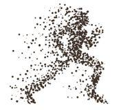 Silhueta divergente da partícula running da mulher Pode ser usado para o cartaz do clube do esporte e de aptidão, para o logotipo ilustração stock
