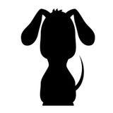 Silhueta do ícone do cão Foto de Stock