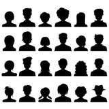 Silhueta do ícone dos povos Fotografia de Stock Royalty Free