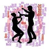 Silhueta do abuso da violência doméstica Foto de Stock