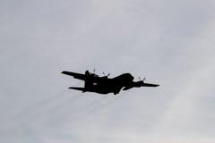 Silhueta do avião da carga da força aérea Imagem de Stock
