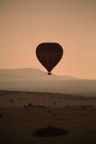Silhueta do balão de ar quente Fotos de Stock Royalty Free