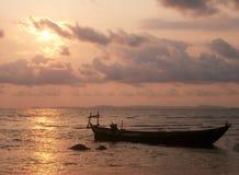 Silhueta do barco Foto de Stock