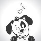 Silhueta do cão Imagens de Stock Royalty Free