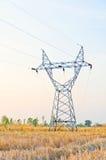 silhueta do cabo elétrico Imagens de Stock