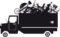 Silhueta do caminhão de lixo ilustração royalty free