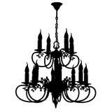 Silhueta do candelabro ilustração do vetor