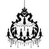 Silhueta do candelabro isolada no fundo branco ilustração do vetor