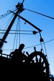 Silhueta do capitão Fotografia de Stock Royalty Free