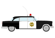 Silhueta do carro de polícia do vintage. Fotografia de Stock