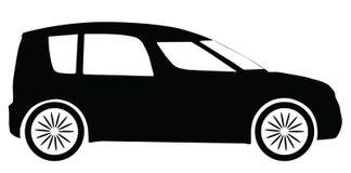 Silhueta do carro de Skoda Roomster do vetor Fotos de Stock Royalty Free