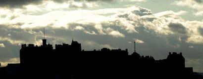 Silhueta do castelo de Edimburgo imagens de stock royalty free