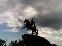 Silhueta do cavaleiro Imagem de Stock