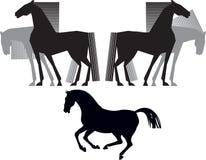 Silhueta do cavalo Foto de Stock Royalty Free