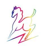 Silhueta do cavalo da beleza Imagens de Stock