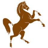 Silhueta do cavalo Ilustração do animal agradável Foto de Stock