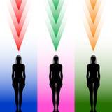 Silhueta do corpo fêmea Imagens de Stock