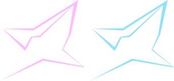 Silhueta do correio do correio triangular dos contornos na cesta do ícone do homem e da mulher Imagens de Stock Royalty Free