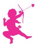 Silhueta do Cupido Imagens de Stock Royalty Free