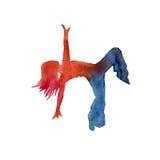 Silhueta do dançarino do hip-hop watercolor Imagens de Stock