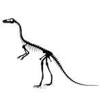 Silhueta do dinossauro Imagem de Stock