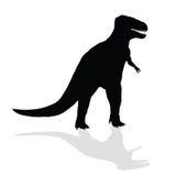 Silhueta do dinossauro Imagens de Stock