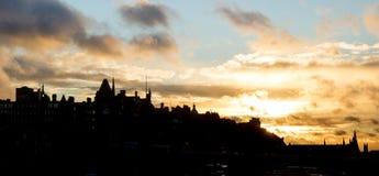 Silhueta do Edimburgo fotos de stock
