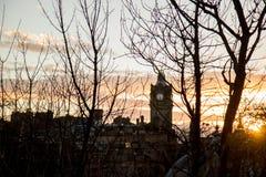 Silhueta do Edimburgo imagens de stock royalty free