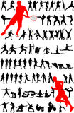Silhueta do esporte -   Imagem de Stock Royalty Free