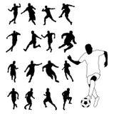 Silhueta 1 do futebol Ilustração Royalty Free