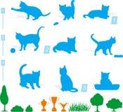 Silhueta do gato Imagens de Stock Royalty Free