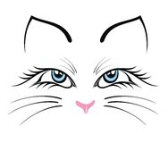 Silhueta do gato Imagens de Stock