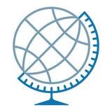 Silhueta do globo isolada ilustração stock