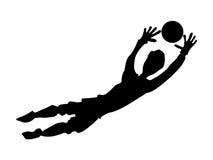 Silhueta do goleiros do futebol ilustração do vetor
