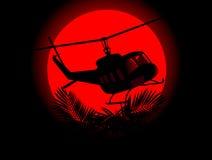 Silhueta do helicóptero militar ilustração stock