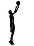 Silhueta do jogador de basquetebol Imagens de Stock Royalty Free