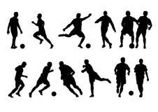 Silhueta do jogador de futebol 12 Fotografia de Stock Royalty Free